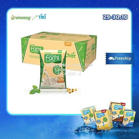Thùng Sữa đậu nành Fami nguyên chất (200ml x 40 Bịch)