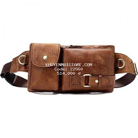 Túi đeo bụng da bò BHM9080