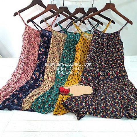 Váy lanh HOA NHÍ vintage siêu xinh cho các nàng