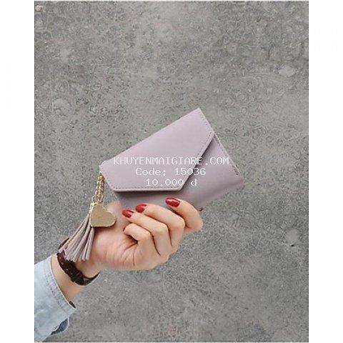 Ví nữ ngắn mini cầm tay kiểu dáng Hàn Quốc