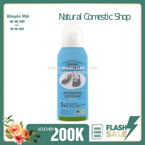 Xịt  Zelenaya Apteka Effective khử mùi giày nam 150ml